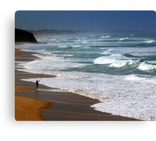 Fishing the Surf  Canvas Print