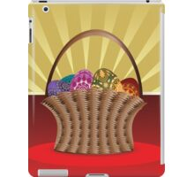 Easter card with eggs iPad Case/Skin