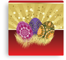 Easter card with eggs 2 Canvas Print