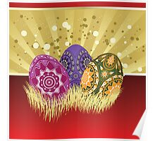 Easter card with eggs 2 Poster