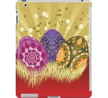 Easter card with eggs 2 iPad Case/Skin