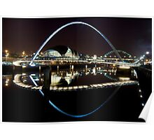 NewcastleGateshead Quayside By Night Poster