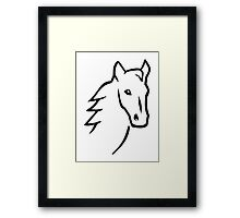 Horse head face Framed Print