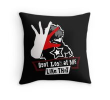 Persona 5 Don't Look Throw Pillow