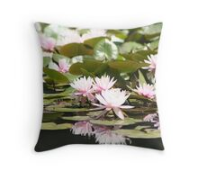 Waterlilies Throw Pillow