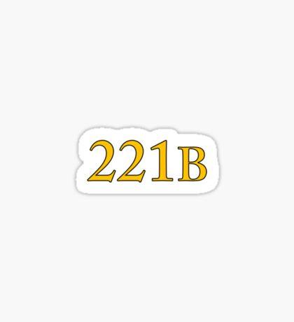 221B Baker Street Sherlock Sticker