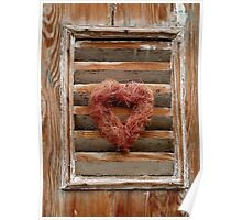 Lovely decorated window shutters Poster