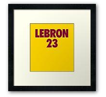 LeBron James #23 Framed Print
