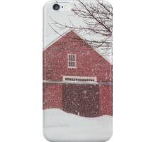 Winter Red Barn iPhone Case/Skin