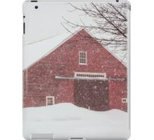 Winter Red Barn iPad Case/Skin