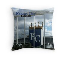 Kansas City Baseball Throw Pillow