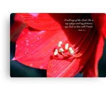 Lily art with scripture Canvas Print