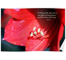 Lily art with scripture Poster