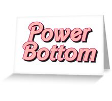 Power Bottom Barbie Greeting Card