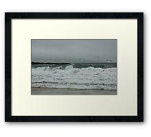The rough grey sea Framed Print
