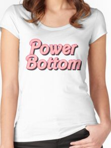 Power Bottom Barbie Women's Fitted Scoop T-Shirt