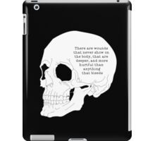 Invisible wounds iPad Case/Skin