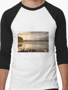 View from the shore Men's Baseball ¾ T-Shirt