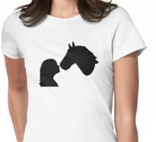Horse girl woman Womens Fitted T-Shirt