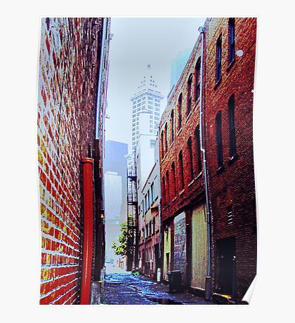 Seattle Alley Poster