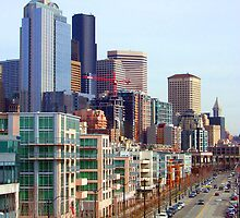 Seattle Alaskan Way  by Tamara Valjean