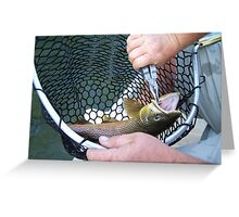 FISHERMANS HAND Greeting Card