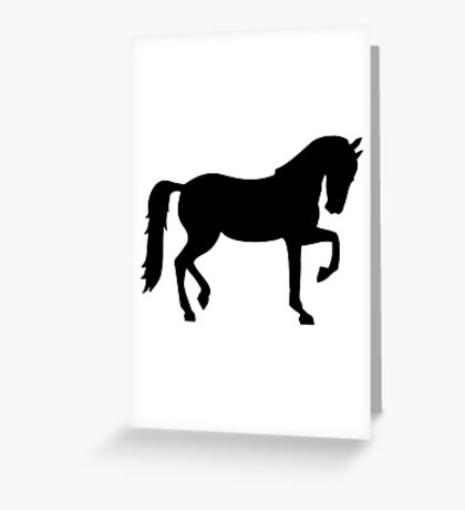 Dressage horse Greeting Card