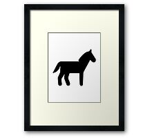 Horse icon Framed Print