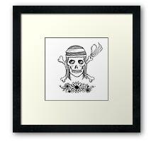 Realistic Jolly Roger- Nami Framed Print