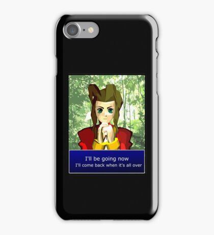 Aerith - I'll be going now iPhone Case/Skin
