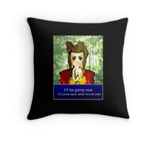 Aerith - I'll be going now Throw Pillow