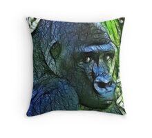 Gorilla Thoughts Throw Pillow