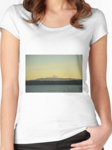 Mount Baker Sunrise Women's Fitted Scoop T-Shirt