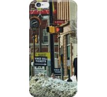 A Snowy Day in Town iPhone Case/Skin