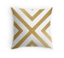 Gold geometric pattern Throw Pillow