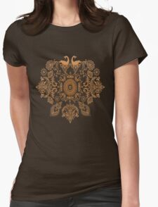 Henna Rock Womens Fitted T-Shirt