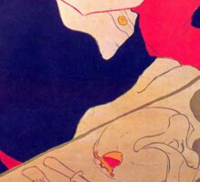 'Rene De Joi' by Toulouse Lautrec (Reproduction) Sticker
