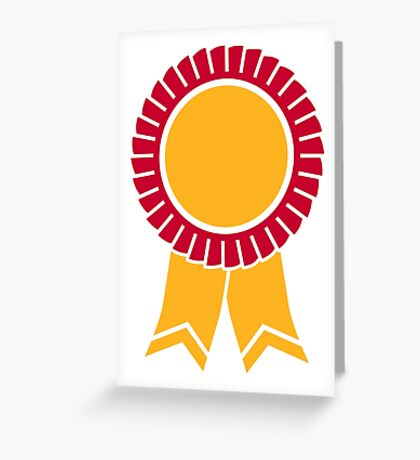 Rosette winners badge Greeting Card