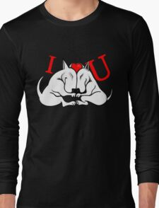English Bull Terrier Valentines Day Design Long Sleeve T-Shirt