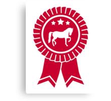 Horse dressage rosette ribbon Canvas Print