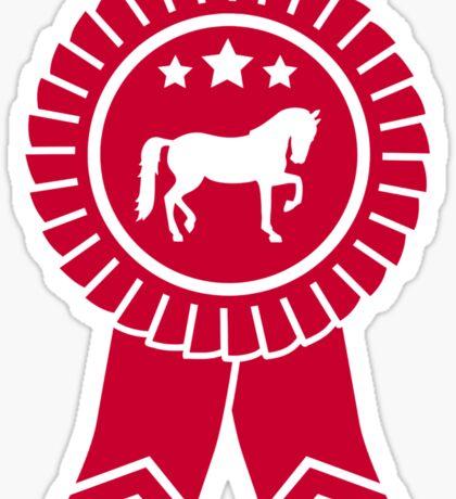 Horse dressage rosette ribbon Sticker