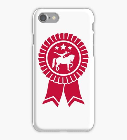Horse vaulting ribbon winners badge iPhone Case/Skin