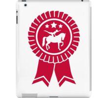 Horse vaulting ribbon winners badge iPad Case/Skin