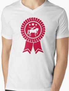 Horse vaulting ribbon winners badge Mens V-Neck T-Shirt