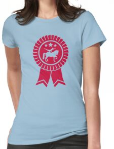 Horse vaulting ribbon winners badge Womens Fitted T-Shirt