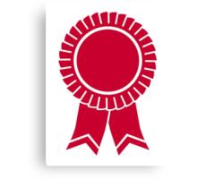 Red rosette winners badge Canvas Print