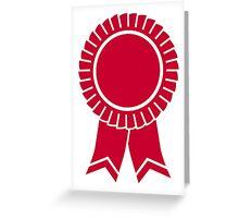 Red rosette winners badge Greeting Card
