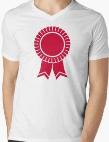 Red rosette winners badge Mens V-Neck T-Shirt