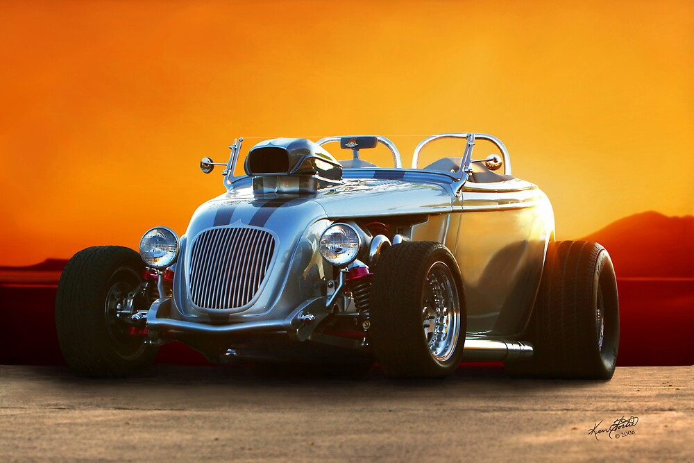 Riding in from the Sunset by Ken Fortie