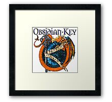 Obsidian Key - SLY Dragon - Progressive Rock Metal Music - (Epic Style) - FD Framed Print